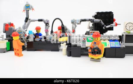 robot production line - Stock Photo