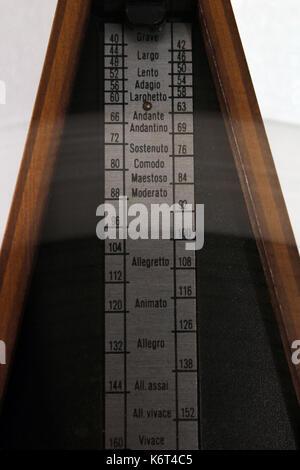 Vintage metronome close-up - Stock Photo