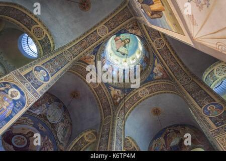 Bulgaria, Central Mountains, Shipka, Shipka Monastery, Nativity Memorial Church, built in 1902 to commemorate Russian - Stock Photo