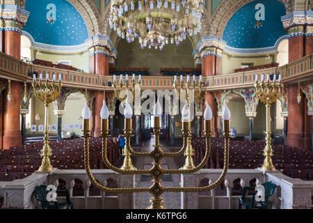 Bulgaria, Sofia, Sofia Synagogue, built 1909, second largest Sephardic Synagogue in Europe, interior - Stock Photo