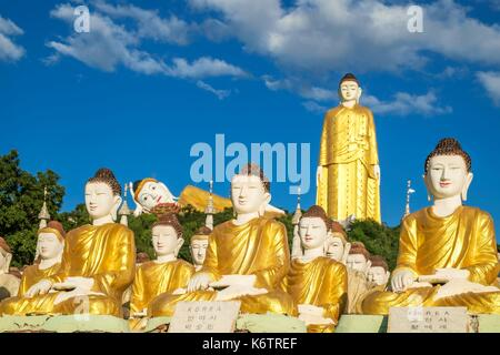 Myanmar (Burma), Sagaing region, Monywa, Maha Bodhi Ta Htaung monastery is famous for its 2 giant Buddha statues, - Stock Photo