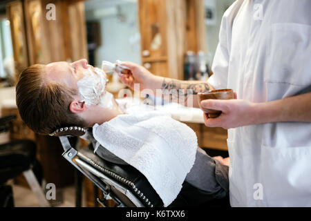 Male in barber shop - Stock Photo