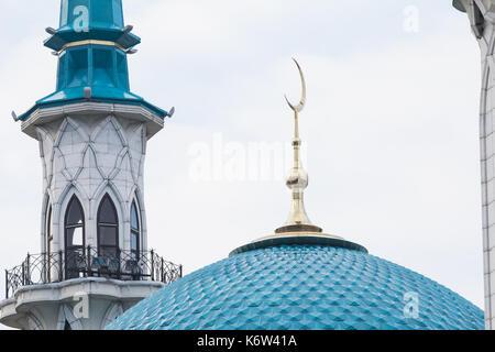 Minaret on Kul-Sharif mosque - Kazan, Russia - Stock Photo