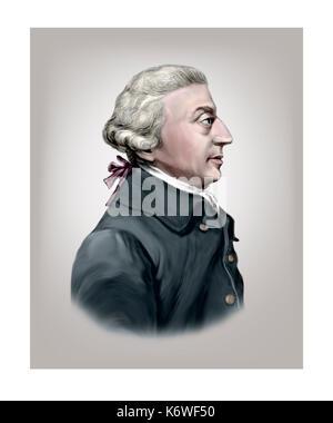 Adam Smith, 1723 - 1790, Scottish Economist, Author, Philosopher - Stock Photo
