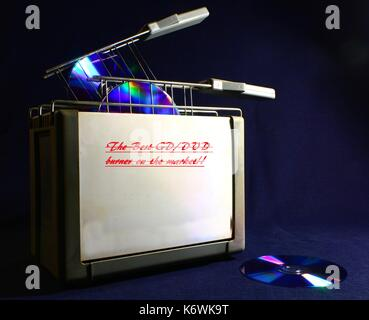 CD burner 3 - Stock Photo