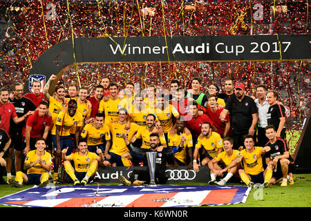 Atletico Madrid wins Audi Cup 2017, Allianz Arena, Munich, Bavaria, Germany - Stock Photo