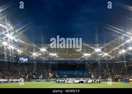 First Champions League game, Wirsol Rhein-Neckar Arena, Hoffnheim, Sinsheim, Baden-Württemberg, Germany - Stock Photo
