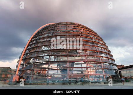 Dome, Reichstag, Government quarter, Berlin-Mitte, Berlin, Berlin, Germany - Stock Photo