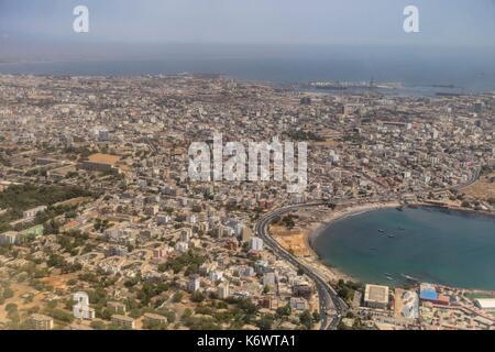 Senegal, Dakar (aerial view) - Stock Photo
