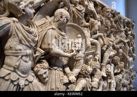 Italy, Lazio, Rome, historical center listed as World Heritage by UNESCO, Piazza Navona district, Palazzo Altemps - Stock Photo