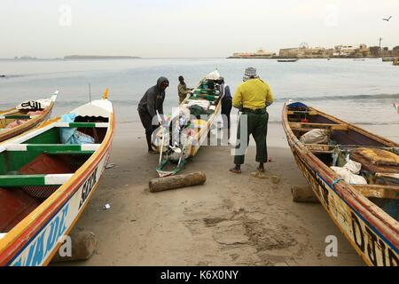 Senegal, Dakar, the beach of Soumbedioune on the West Corniche - Stock Photo