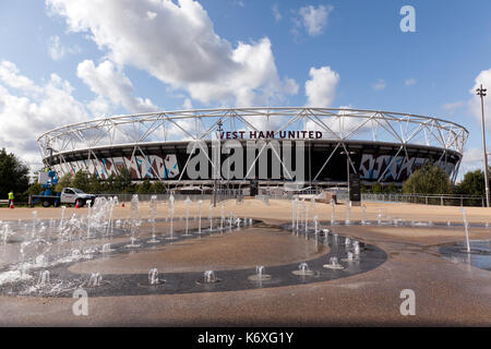 View of the West Ham United Football Club Stadium, Queen Elizabeth Olympic Park, Stratford - Stock Photo