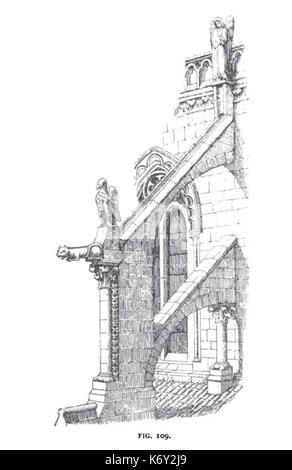 Fig 109  Flying Buttress and Clerestory of Burgos Cathedral - Stock Photo