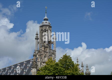 Stadhuis  Middelburg  - old city hall in the Netherlands - Stock Photo