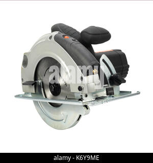 Construction, repair, tools - Hand circular saw on a white background. Isolated - Stock Photo