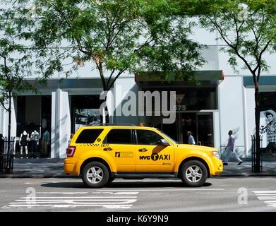 Yellow Taxi Cab - Stock Photo