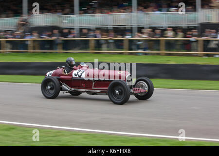 Goodwood Revival 2017 Meeting, Goodwood race track, organised by the British Automobile Racing Club, Chichester, - Stock Photo