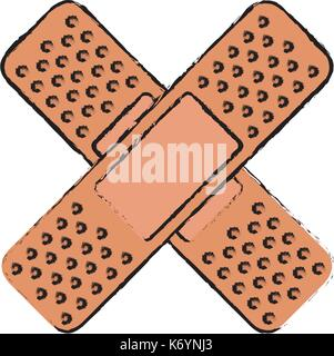 cure bandages isolated icon - Stock Photo