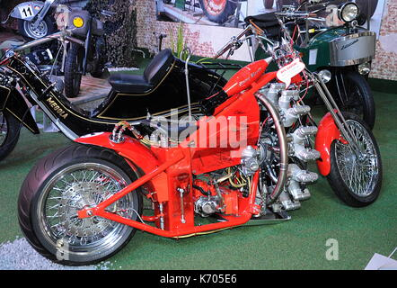 Custom Motorbike with Rotary Engine - Stock Photo