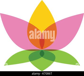 Beauty Vector Lotus flowers design logo Template icon - Stock Photo