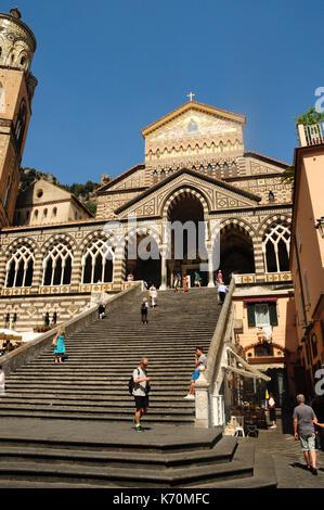 Amalfi Cathedral, Amalfi, Campania, Italy, Europe - Stock Photo