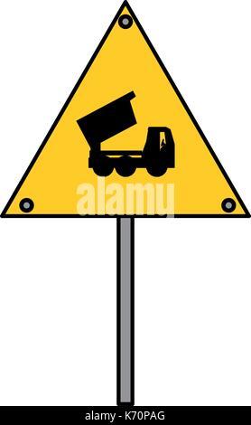 signal dump truck  vector illustration - Stock Photo