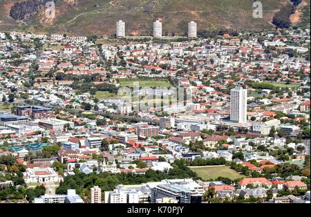 Cape Town City Bowl Towards the North - Stock Photo