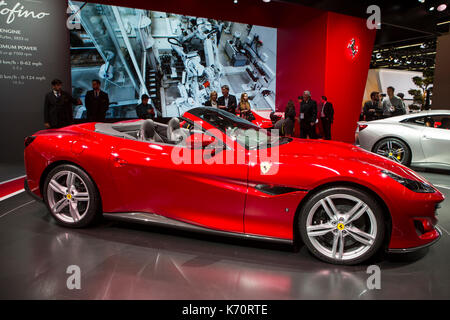 Frankfurt, Germany. 12th September, 2017. International Motor Show 2017 (IAA, Internationale Automobil-Ausstellung), - Stock Photo