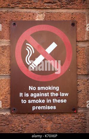 Sign no smoking on the street. - Stock Photo