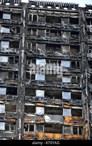 Grenfell tower fire, London - Stock Photo