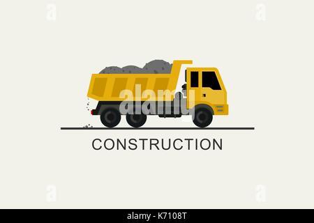 Construction truck icon - Stock Photo