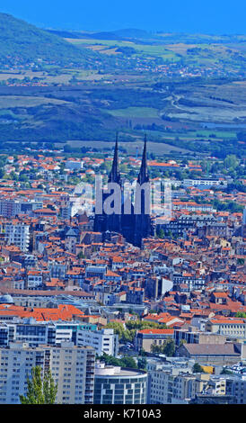 aerial view of clermont ferrand puy de dome auvergne massif central stock photo royalty free. Black Bedroom Furniture Sets. Home Design Ideas