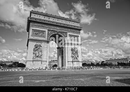 Arc de Triomphe on the Champs Elysees - Stock Photo