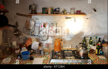 kitchen on a rural home - Stock Photo
