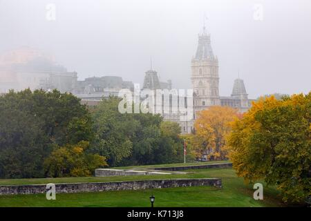 Canada, Quebec, the scenic Chemin du Roy, Quebec City, Abraham Plains, the Champs de Bataille park, ramparts and - Stock Photo