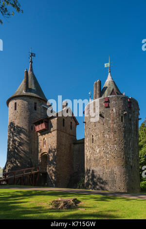 Castell Coch Welsh for Red Castle can be found on the outskirts of Cardiff in the county of South Glamorgan, Wales. - Stock Photo