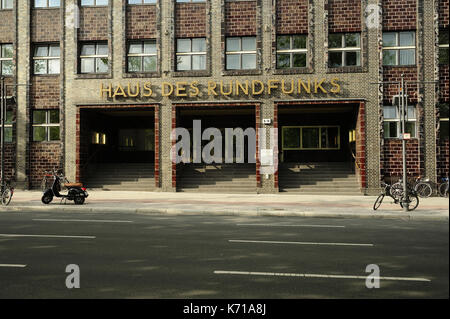 Berlin, architecture, haus des rundfunks berlin, Hans Poelzig,House of Broadcasting, RBB, - Stock Photo