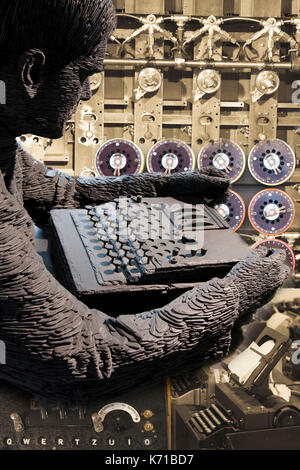 Alan Turing, Bletchley Park Enigma Collage - Stock Photo