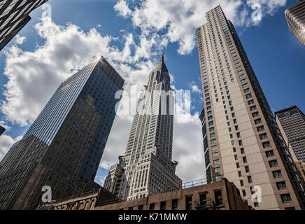 Chrysler Building at 42nd St and Lexington Avenue, New York City. - Stock Photo
