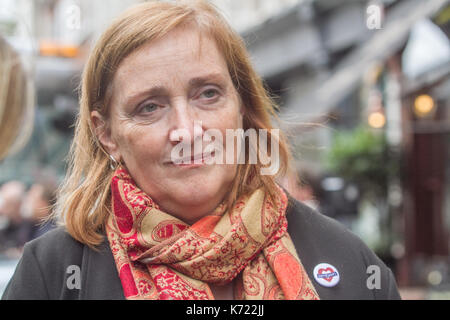 London, UK. 14th Sep, 2017. Emma Dent-Coad Labour MP for Kensington and Chelsea attends the opening day of the public - Stock Photo