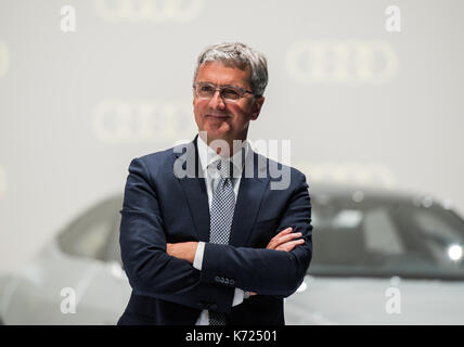 Frankfurt Main, Germany. 14th Sep, 2017. Audi chairman Rupert Stadler standing at the Audi fair stand at the International - Stock Photo