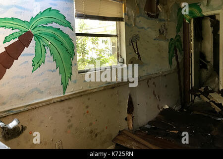 United States. 13th Sep, 2017. Interior view of an abandoned property in Middleburg, FL, on September 13, 2017. - Stock Photo