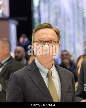 Frankfurt, Germany. 14th Sep, 2017. Matthias Wissmann at the 67th IAA International Motor Show in Frankfurt/Main - Stock Photo