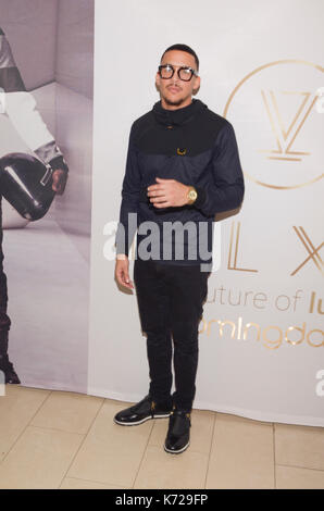 New York, USA. 14th Sep, 2017. Designer Antonio Brown partners with Bloomingdale's to roll out Luxury Menswear Line, - Stock Photo