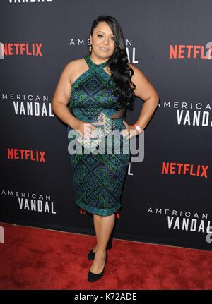 Los Angeles, California, USA. 14th Sep, 2017. Jessica Juarez at arrivals for NETFLIX'S AMERICAN VANDAL Premiere, - Stock Photo