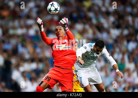 Madrid, Spain. Credit: D. 13th Sep, 2017. Boy Waterman (Apoel), Cristiano Ronaldo (Real) Football/Soccer : UEFA - Stock Photo