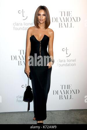 September 14, 2017 - New York, New York, U.S. - Model/actress EMILY RATAJKOWSKI attends Rihanna's 3rd Annual Diamond - Stock Photo