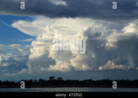 Dramatic thunderstorm cloud formation - Stock Photo