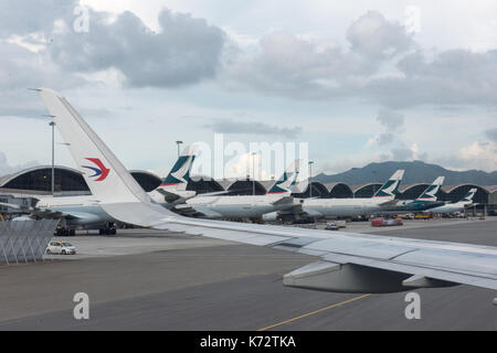 Planes on the tarmac.Hong Kong International Airport Chek Lap Kok. Jayne Russell/Alamy Stock Photo - Stock Photo