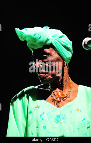 Bi Kidude, Fatuma binti Baraka (born 1910 in Zanzibar Sultanate, 17 April 2013) is a Tanzanian singer, representative - Stock Photo